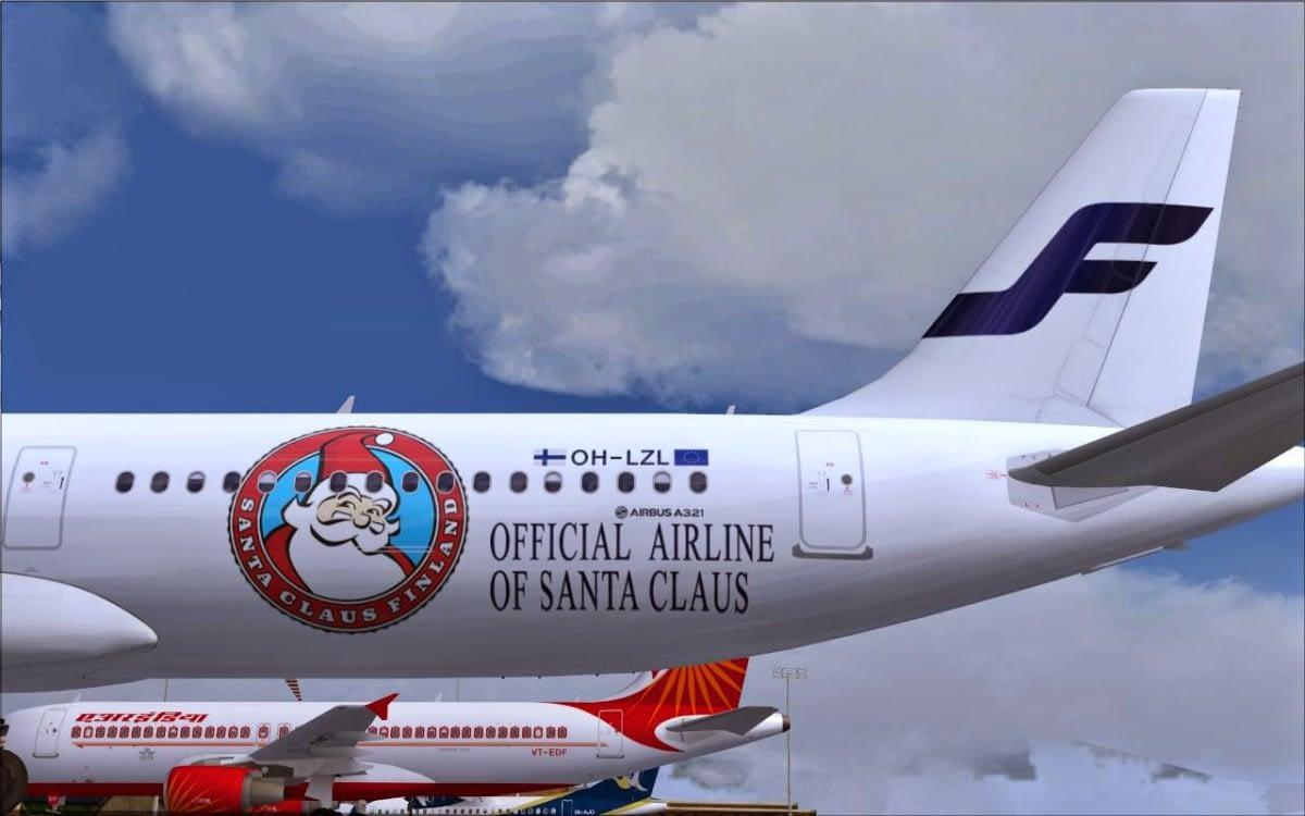 FI Santa Plane Finnair