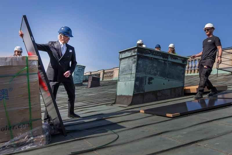 瑞典国王新工作:安装屋顶太阳能