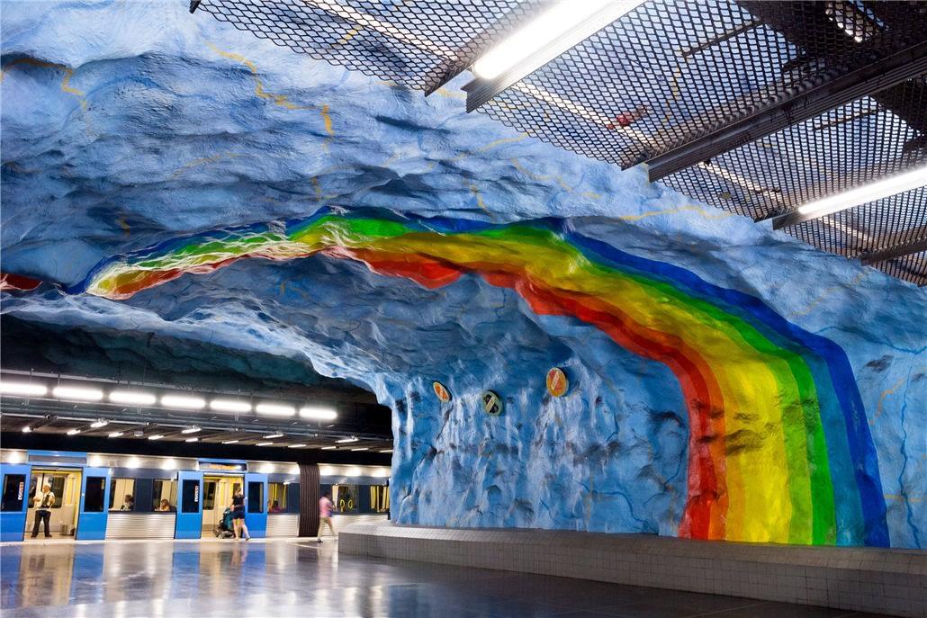 世界最美的地铁-斯德哥尔摩地铁